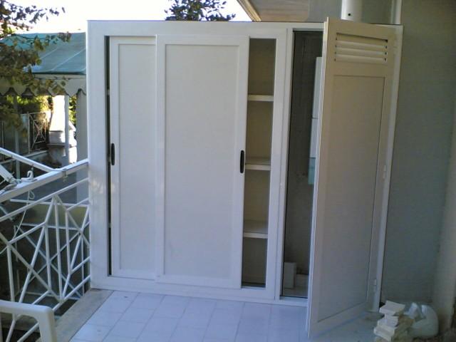 Ripostigli in alluminio per interni ed esterni - Ripostiglio per terrazzo ...