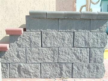 Muro in blocchi di calcestruzzo
