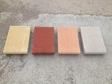 Coprimuro in cemento levigato